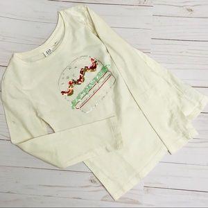Gap Girls shirt 6 7 white cream